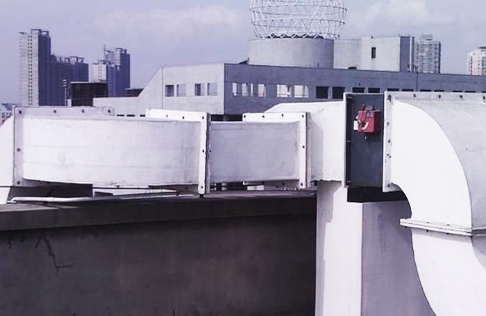 化工厂玻璃钢风管安装